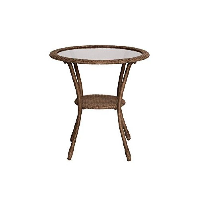 Hampton Bay Spring Haven Brown All-Weather Wicker Patio B...