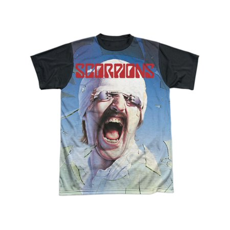 Scorpions 80s Hair Metal Rock Band Blackout Album Cover Adult Black Back T-Shirt