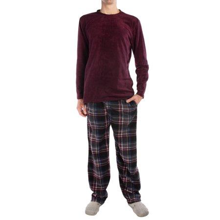 Joe Boxer (2 Piece) Men's Fleece Pajamas Set Soft Shirt Warm Pants PJ Sleepwear Top & Bottom