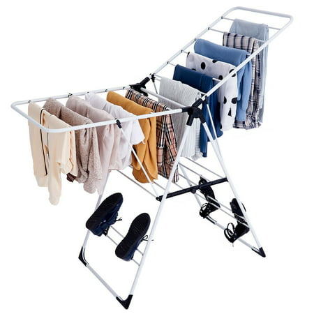 Costway Laundry Clothes Storage Drying Rack Portable Folding Dryer Hanger Heavy