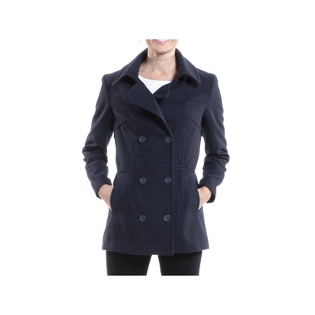 alpine swiss emma womens peacoat jacket wool blazer double breasted overcoat ()