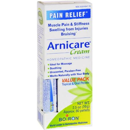 3 Pack - Boiron Arnicare Arnica Crème pour soulager la douleur et Blue Tube Value Pack 2,5 oz