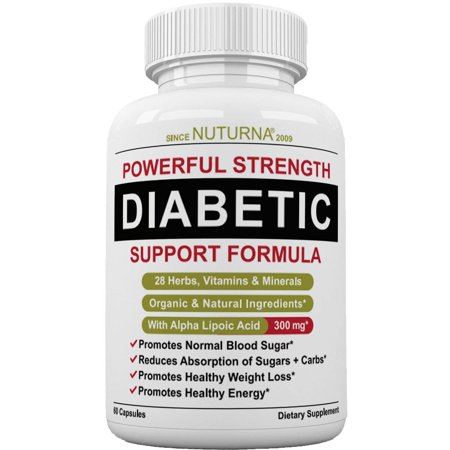 Diabetic Support Formula - 28 VITAMINS Minerals & Herb Supplement For Blood Sugar Support - Healthy Body Weight & Extra Energy Support Naturally - Premium Diabetic Multivitamin For Men & - Mineral Herb Spa Gift