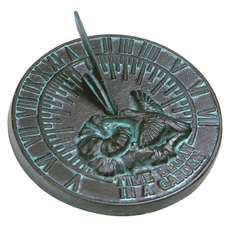 - Cast Iron Hummingbird Sundial