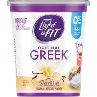 Light + Fit Nonfat Gluten-Free Vanilla Greek Yogurt, 32 Oz.