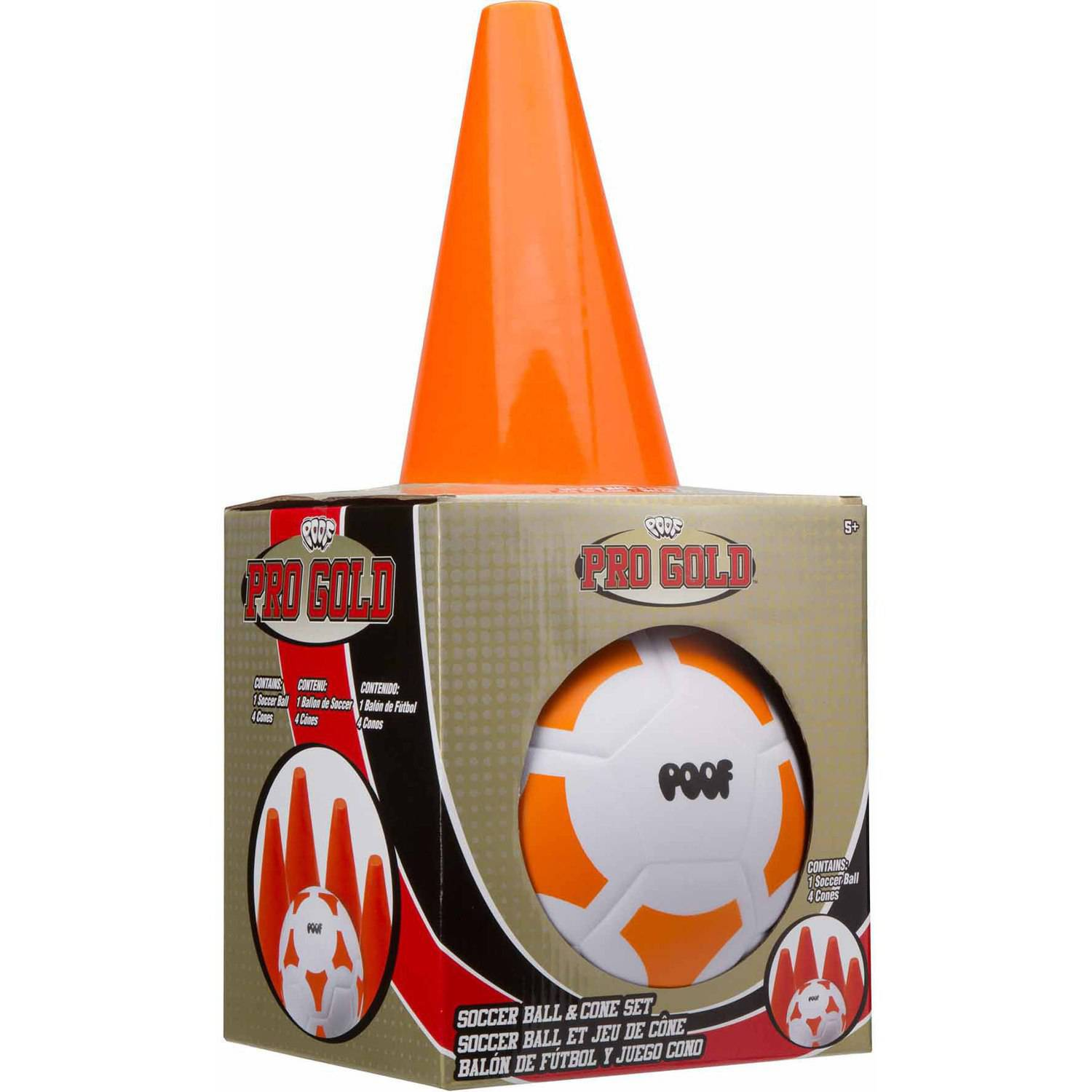 POOF Pro Gold Soccer Ball and Cone Set