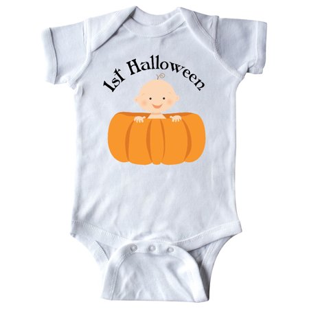 1st Halloween Baby Pumpkin Infant Creeper (Baby's First Halloween Pumpkin Designs)