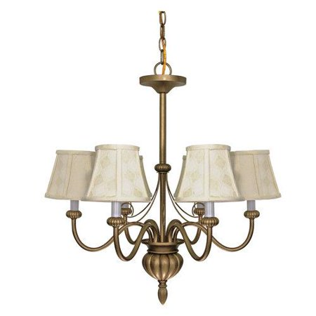 Nuvo 60/145 Chandeliers 24in Flemish Gold 5-light Flemish Gold