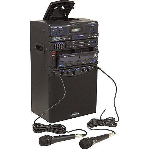 VocoPro DVD-Duet 80W CD Dual Cassette Karaoke System by VocoPro