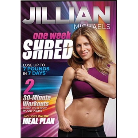 JILLIAN MICHAELS-ONE WEEK SHRED (DVD) (DVD) (Jillian Michaels Ripped In 30 Level 2)