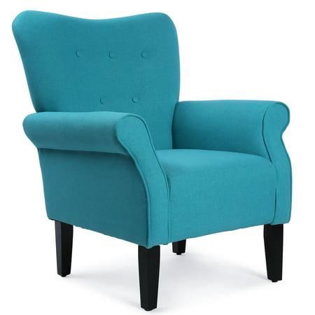 Belleze living room wingback armchair modern accent chair for Teal accent chairs in living room