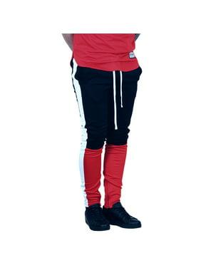 3113d0fd61eea Product Image BLEECKER & MERCER Color Block Track Pants Black/Red