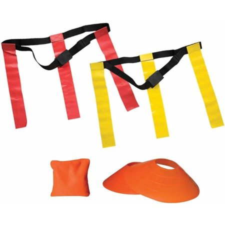Flag Football Flags (Franklin Sports 10-Player Flag Football Field Set With)