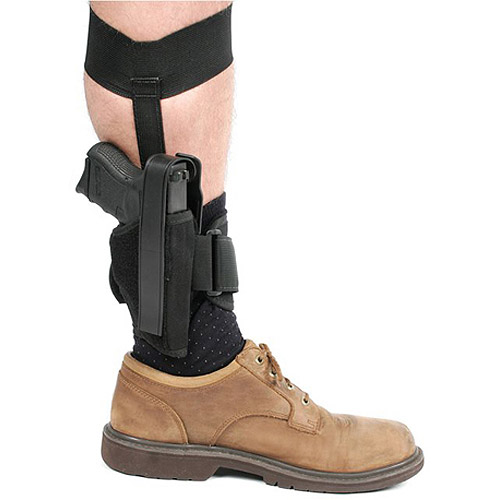 BlackHawk Ankle Holster, Size 12 fits Glock 26/27/33 and Other Sub-Compact 9mm/.40 Caliber, Right Hand, Black