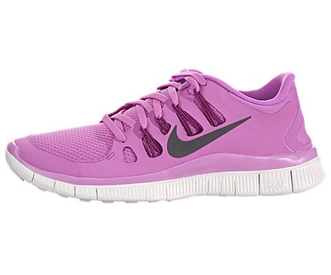 The Womens Nike Free .0+ Running Shoe Red Violet/Bright Magenta/Summit White/Iron Ore Size