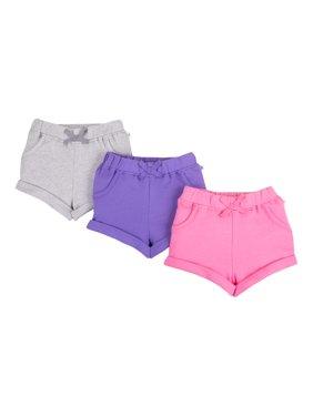 Pure Organic True Brights Shorts, 3 Pk (Baby Girls & Toddler Girls)