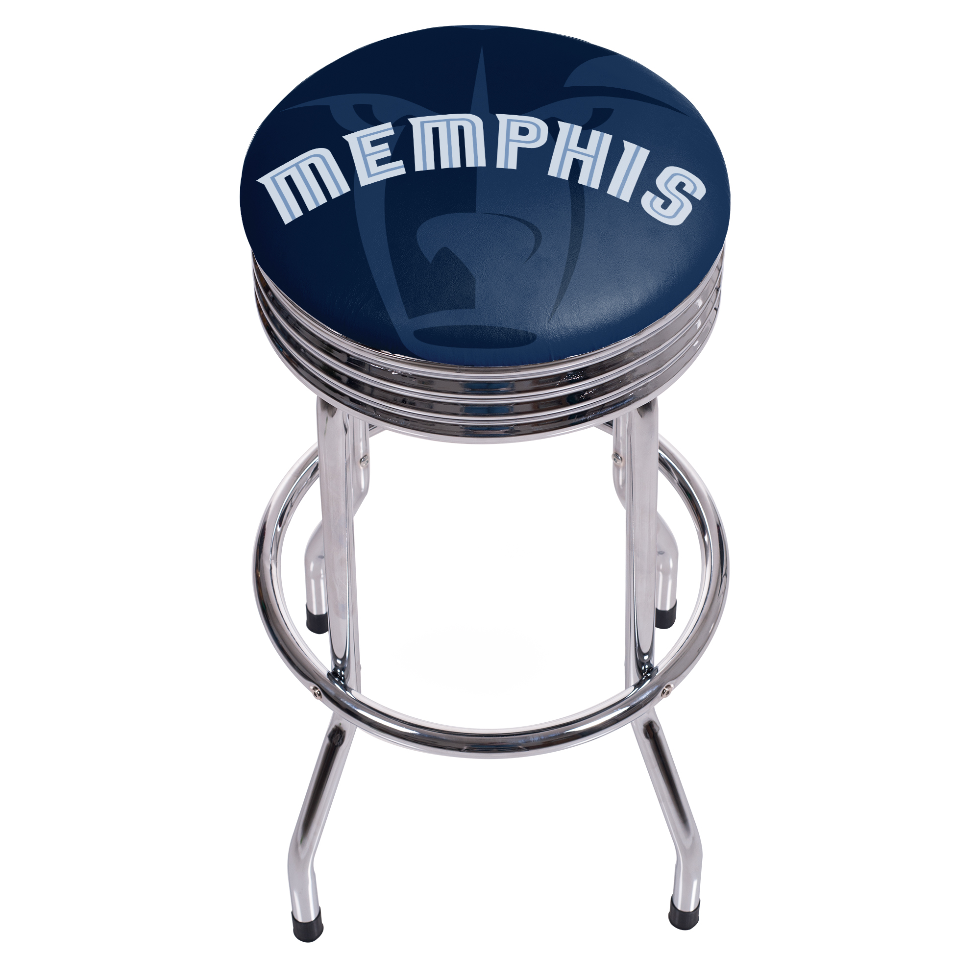NBA Chrome Ribbed Bar Stool - Fade - Memphis Grizzlies