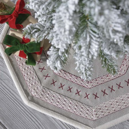 Pebble Grey Traditional Christmas Decor Liv Felt Appliqued ...