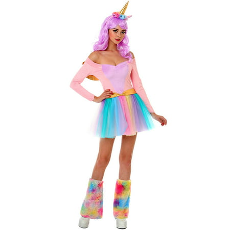 Boo! Inc. Rainbow Unicorn Halloween Costume for Adults | Great for Parties and Cosplay - Ash Female Cosplay
