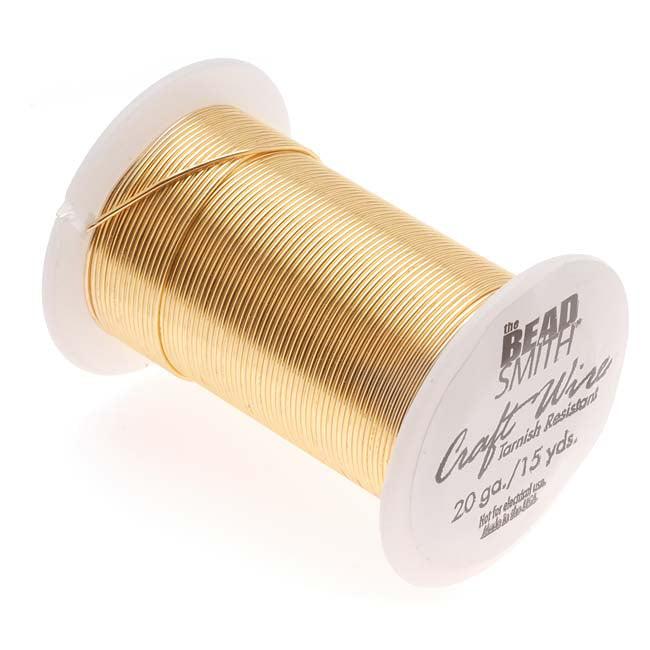 Tarnish Resistant Gold Color Copper Wire 20 Gauge 15 Yards (13.5 Meters)