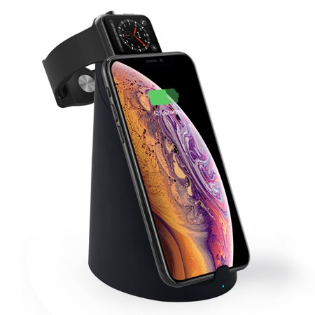 ASPECTEK Wireless Charger - 10W Qi Fast Wireless Charging Stand/Charging Pad/Charging Dock for iPhone Xs Max/XR/X/8/8 Plus, Galaxy S9/S9+/S8+/Note 8, Charger Holder for Apple Watch Series (Best Charging Dock For Iwatch Ipads)