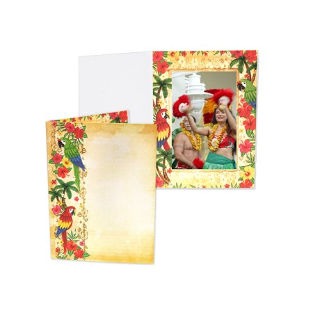 Luau 4x6 Event Photo Folders (25 Pack)