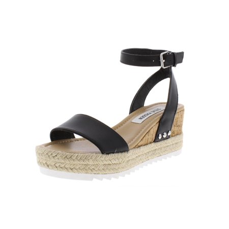 71349512c1f Steve Madden Womens Jaide Leather Wedges Espadrilles