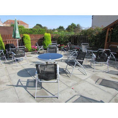 Canvas Print Furniture Terrace Deck Table Outdoor Patio Stretched Canvas 10 x