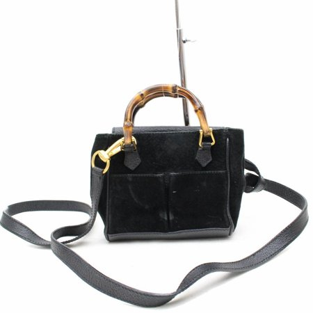 gucci Bamboo Suede 2way Bag 867617