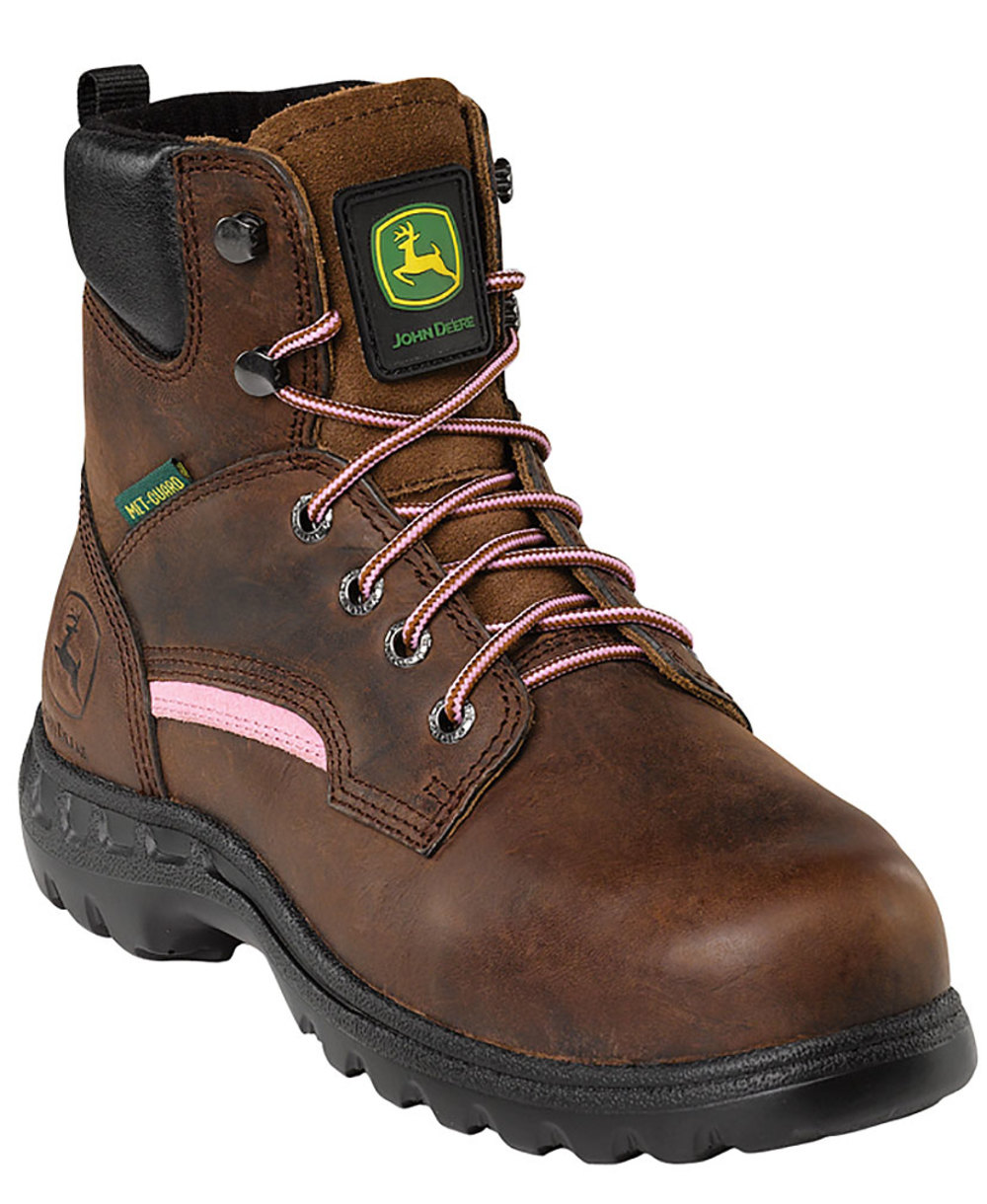 Women's STEEL TOE Brown Work Boot 8.5 M
