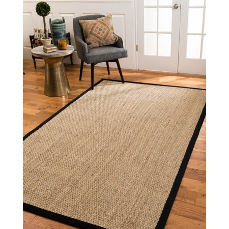 Natural Area Rugs Maritime Black Seagrass Rug (5' x 8') ()