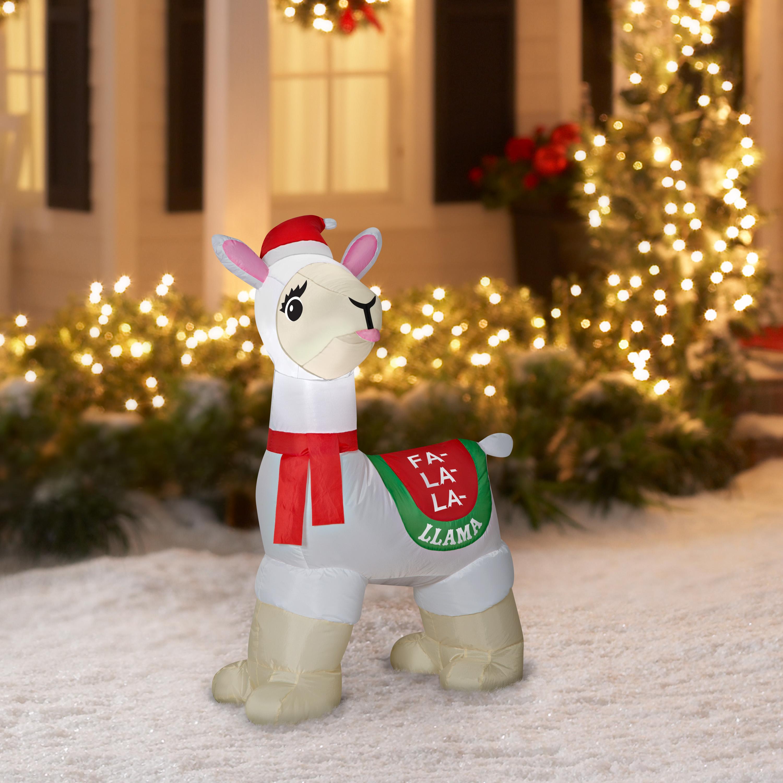 Christmas Llama.Holiday Time Inflatable Llama 3 5