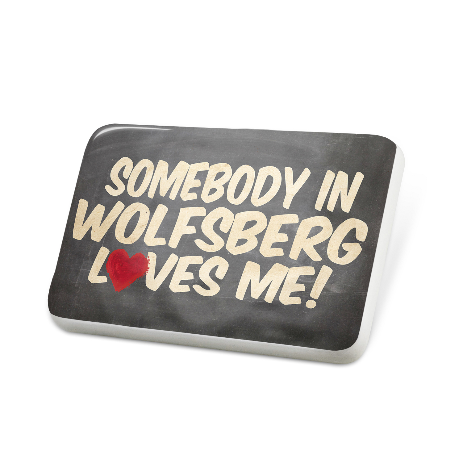 Porcelein Pin Somebody in Wolfsberg Loves me, Austria Lapel Badge – NEONBLOND