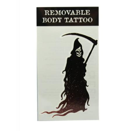 Scythe Grim Reaper (Scythe Wielding Grim Reaper Temporary Body Tattoo by)