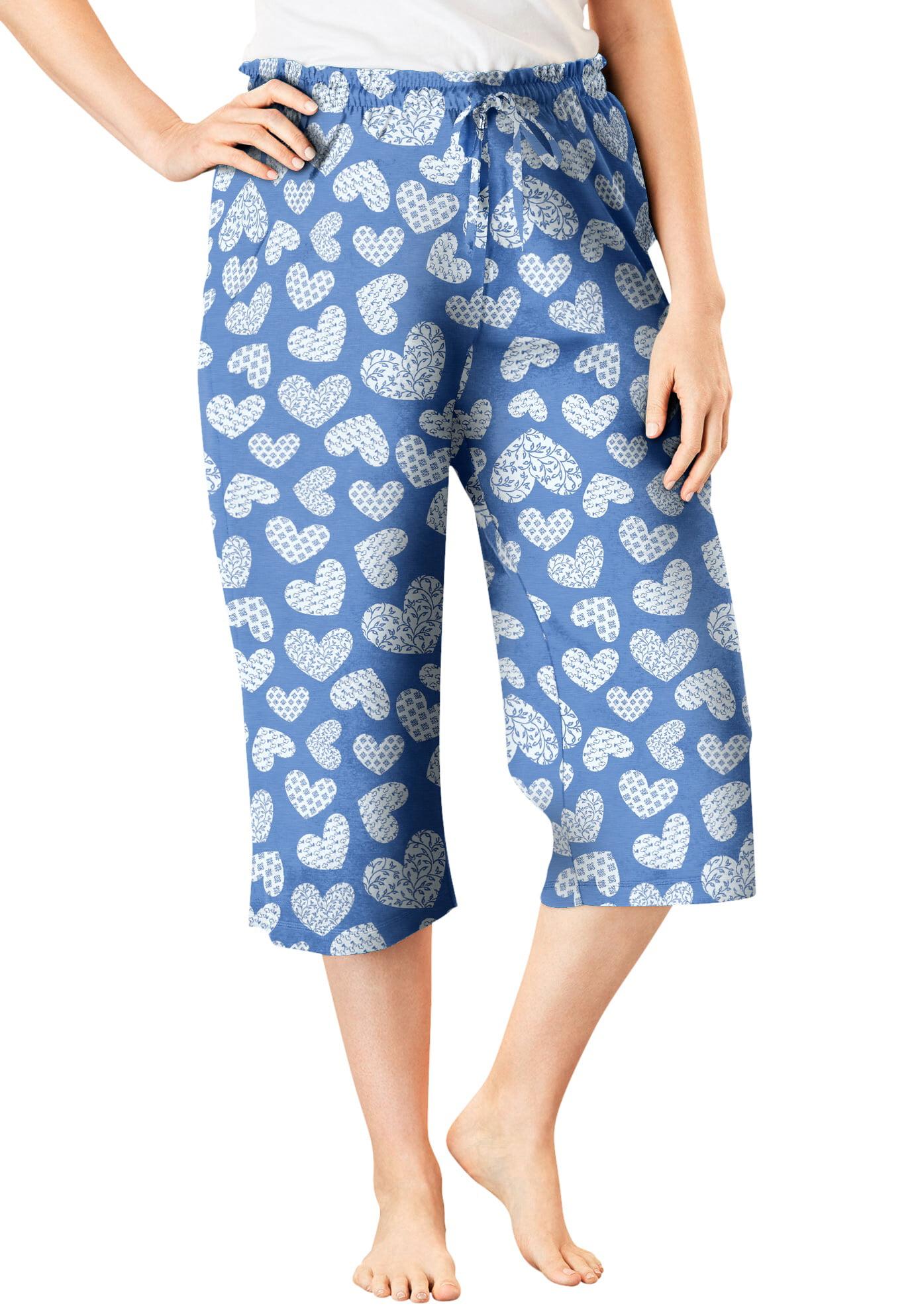 Womens Plus Size Knit Sleep Capri Dreams /& Co