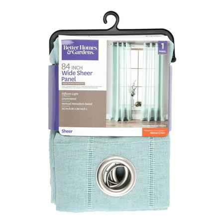 Better Homes & Gardens Hemstitch Curtain Single Grommet Panel (White Alcott Single)