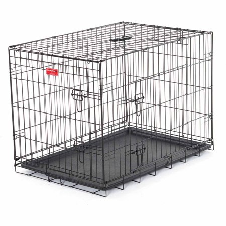 Lucky Dog Folding Black Wire 2 Door Training Crate, 24""