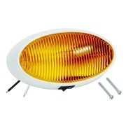 Bargman 30-79-006 Porch Light Lens; For 79 Series; Oval; Amber; w/White 5 Base; Switch;