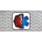 EMT And Firefighter On DP Photo License Plate