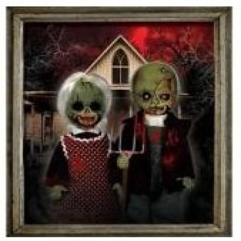 Mezco Toyz Living Dead Dolls 2Pack American Gothic Bloody...