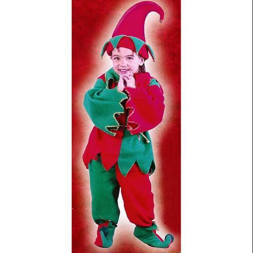 6-PIECE TODDLER'S CHRISTMAS ELF COSTUME SET SZ 3T-4T