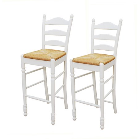 Ladder Back Rush Seat Bar Stools 30