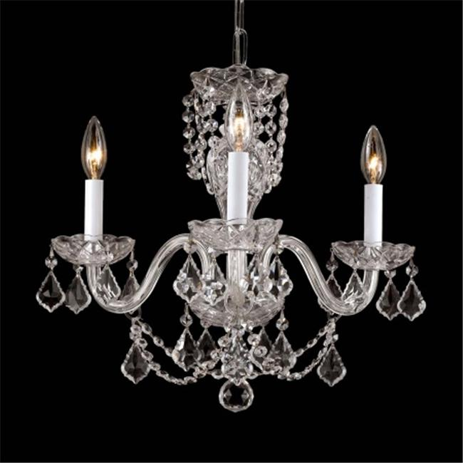 Crystal Chandelier With French Pendelogue Crystal Trim-48- 123-3HC