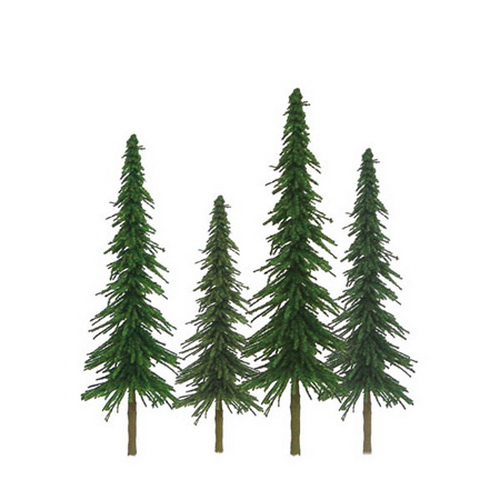 """JTT Scenery Products 92025 Super Scenic Spruce 1-2"""" Trees, (55)"""