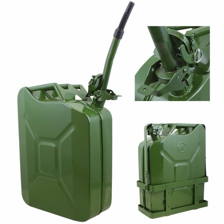 5Gal Jerry Can Gas Fuel Steel Tank Nato Style With Holder  Green Military