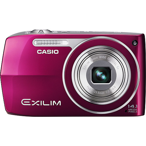 "Casio Exilim EX-Z2000 Cardinal Pink 14MP Digital Camera, 5X Ultra Wide Zoom, 3.0"" LCD, 720p Video, Dynamic Photo"