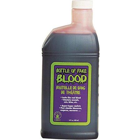 16 oz. Bottle Of Fake Blood Rubies 19614 - Using Fake Blood