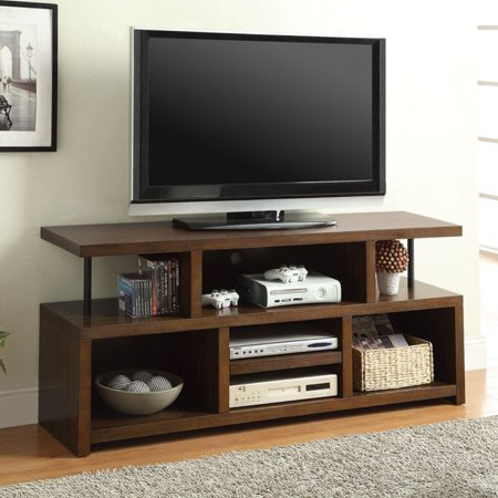 (Contemporary Wood Veneer TV Console for TVs up to 50