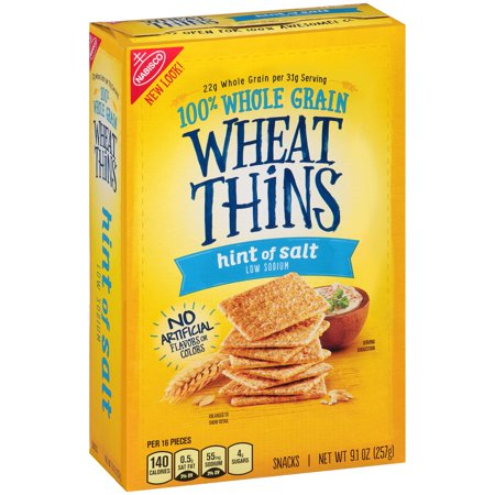 Nabisco Wheat Thins Hint of Salt Snacks, 9.1 oz - Walmart.com