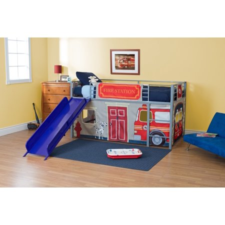 Fire Department Polyester Curtain Panel Set for Loft -Component ()